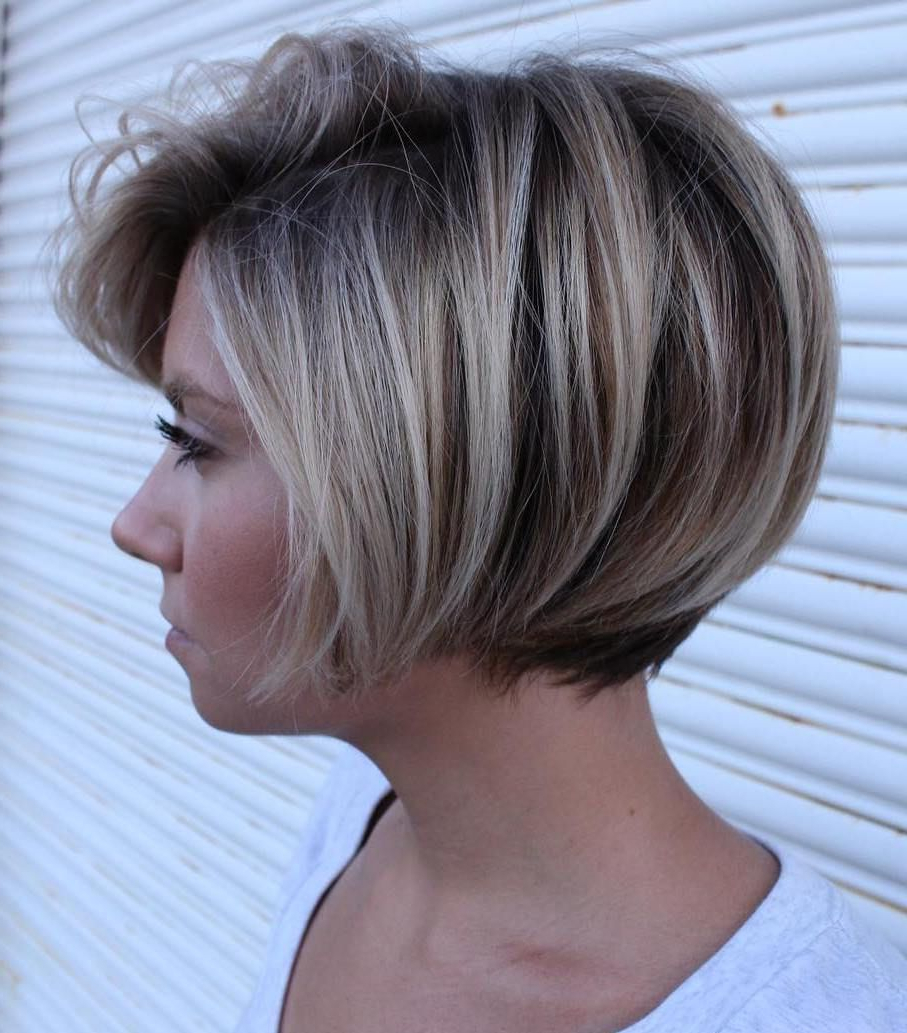 Featured Photo of Short Bob Hairstyles With Dimensional Coloring