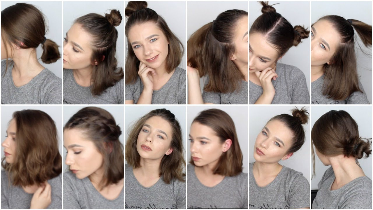 12 Easy Hairstyles For Short Hair ♡ – Youtube Throughout Short And Simple Hairstyles (View 2 of 20)