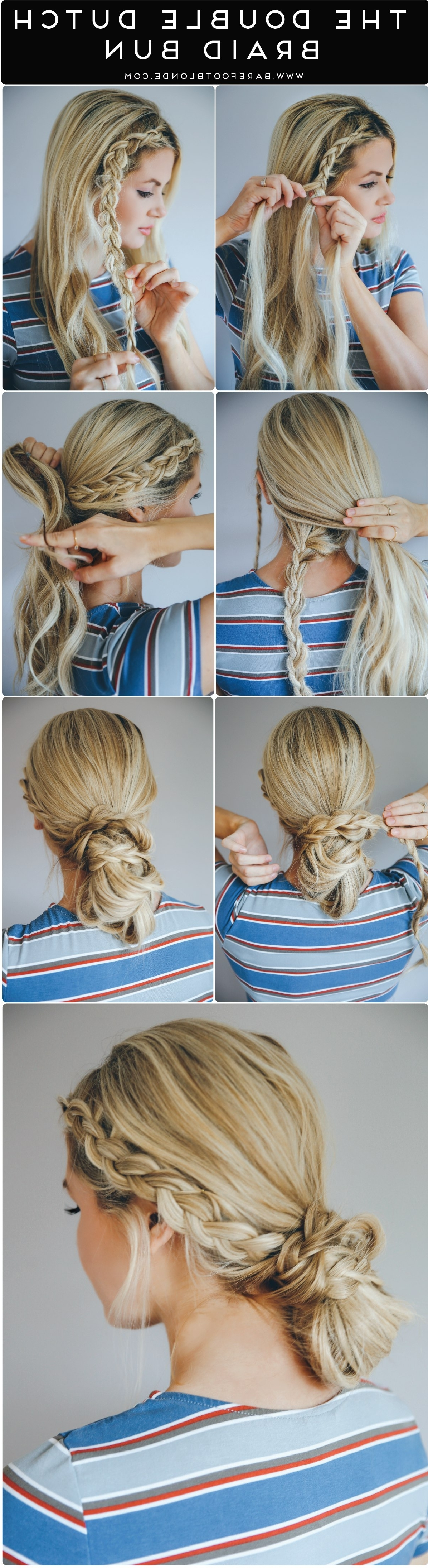 12 Hairstyles That Are Perfect For Your Next Workout – Simplemost With Regard To Most Current Blonde Ponytails With Double Braid (View 15 of 20)