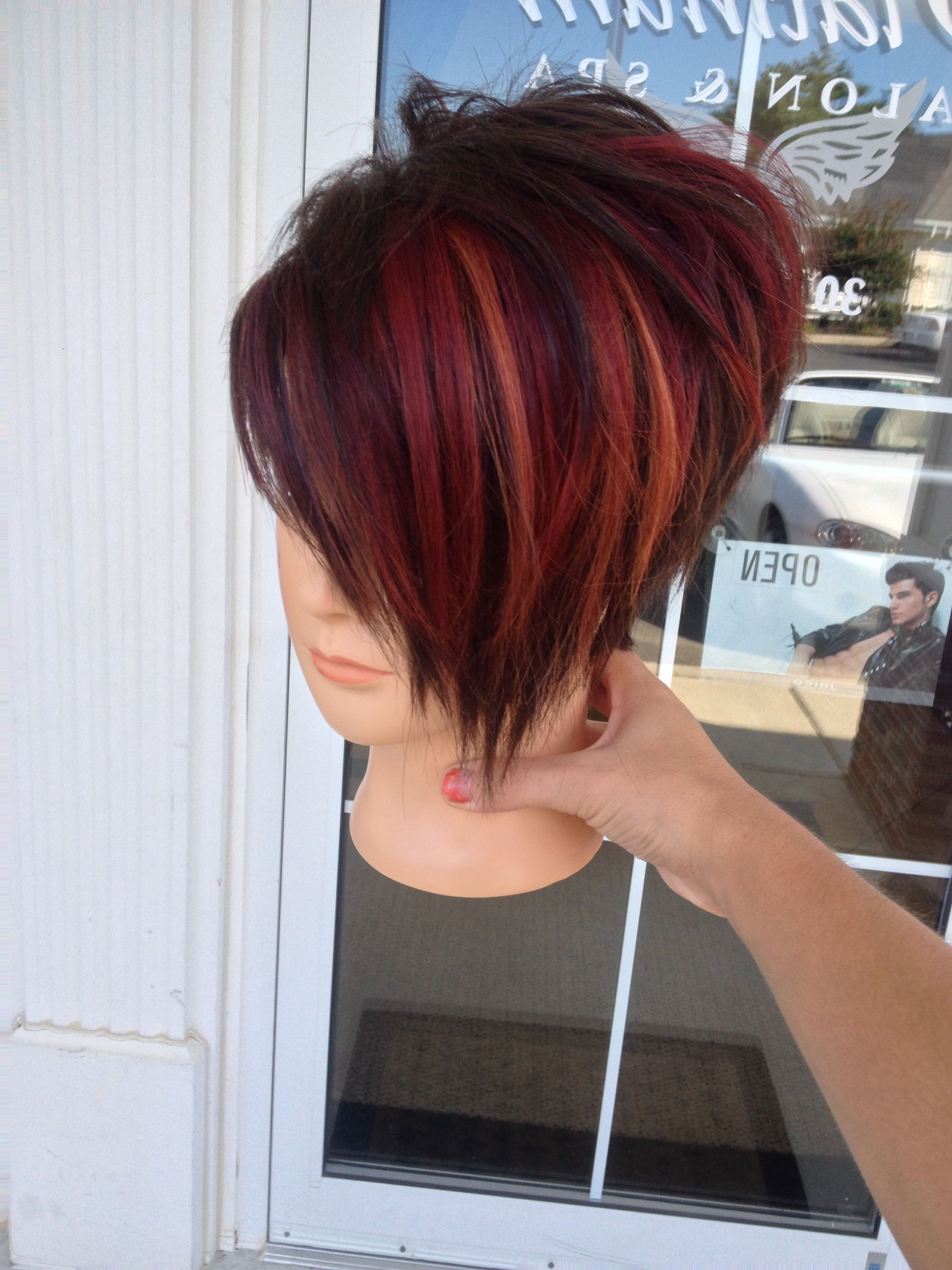 14 Cool Funky Hairstyles In 2018 | Hair | Pinterest | Hair, Hair Within Short Red Haircuts With Wispy Layers (View 2 of 20)
