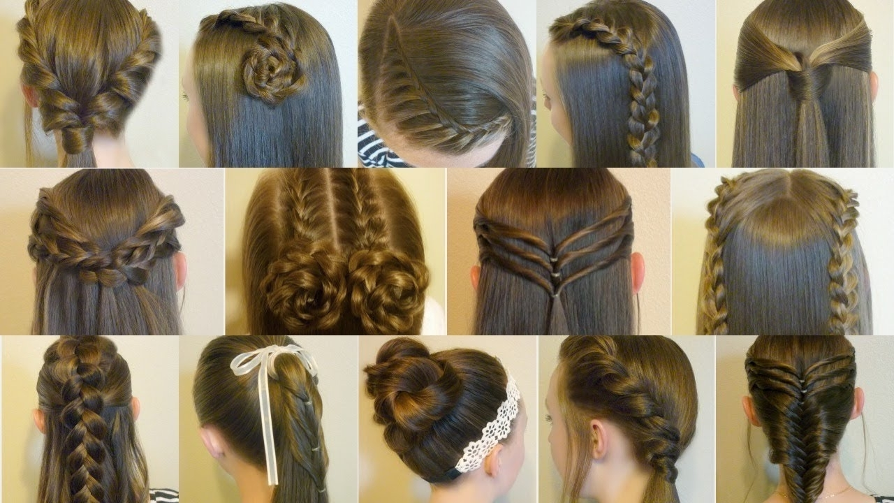 14 Easy Hairstyles For School Compilation! 2 Weeks Of Heatless Hair Throughout 2017 Intricate And Adorable French Braid Ponytail Hairstyles (View 15 of 20)