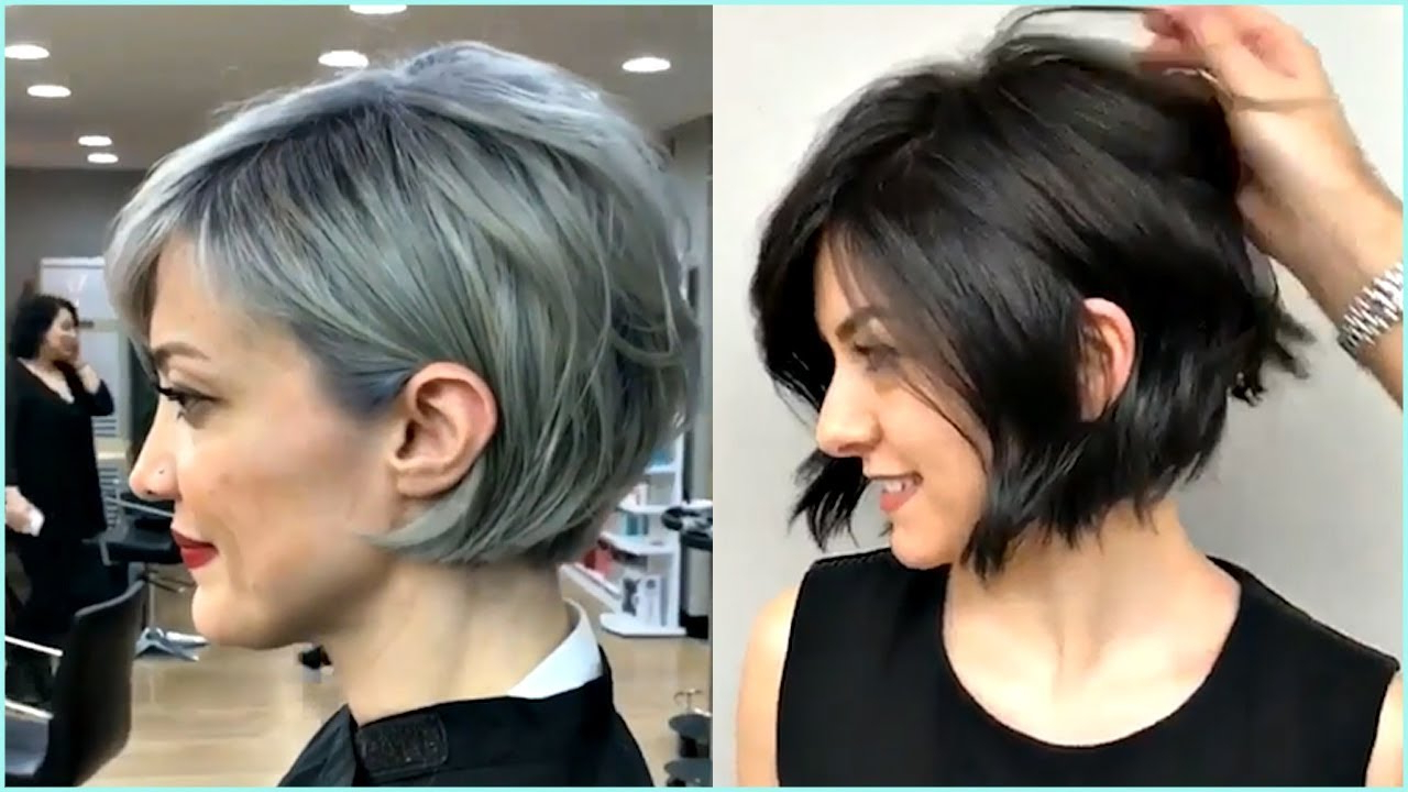 14 Gorgeous Short And Premium Bob Haircut For Women 😍 – Youtube With Pixie Short Bob Haircuts (View 7 of 20)