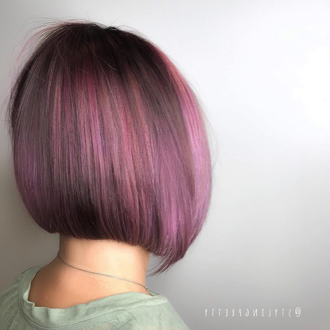 14 Top Short Bob Hairstyles & Haircuts For Women In 2018 – Lookvine With Choppy Brown And Lavender Bob Hairstyles (View 16 of 20)