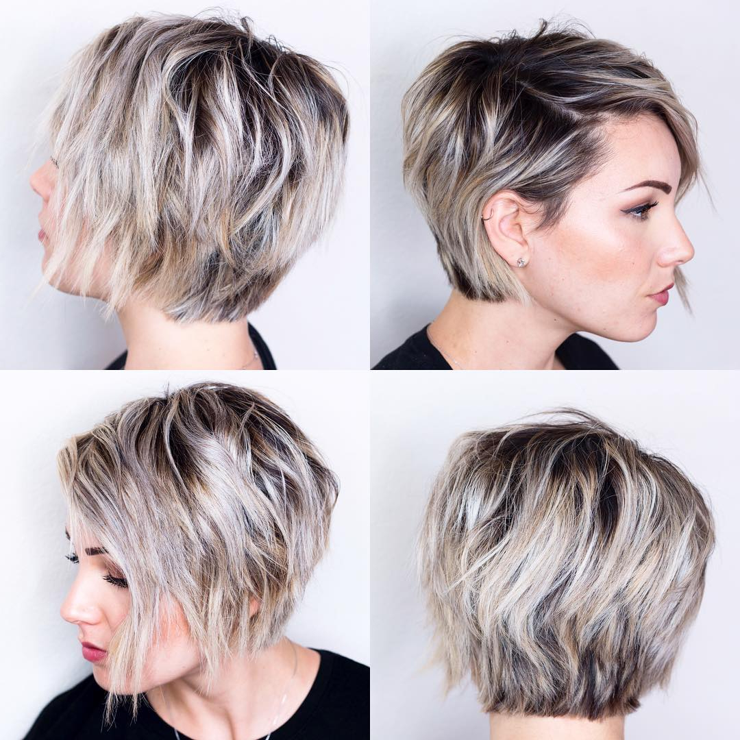 15 Adorable Short Haircuts For Women – The Chic Pixie Cuts Throughout Black And Ash Blonde Pixie Bob Hairstyles (View 5 of 20)