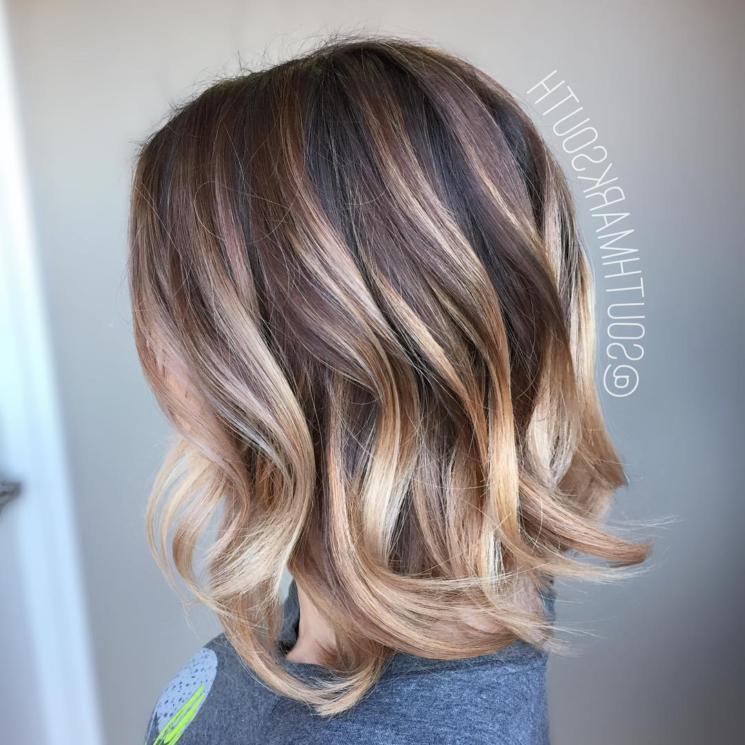 15 Amazing Balayage Hairstyles 2018 – Hottest Balayage Hair Color Inside Choppy Golden Blonde Balayage Bob Hairstyles (View 3 of 20)