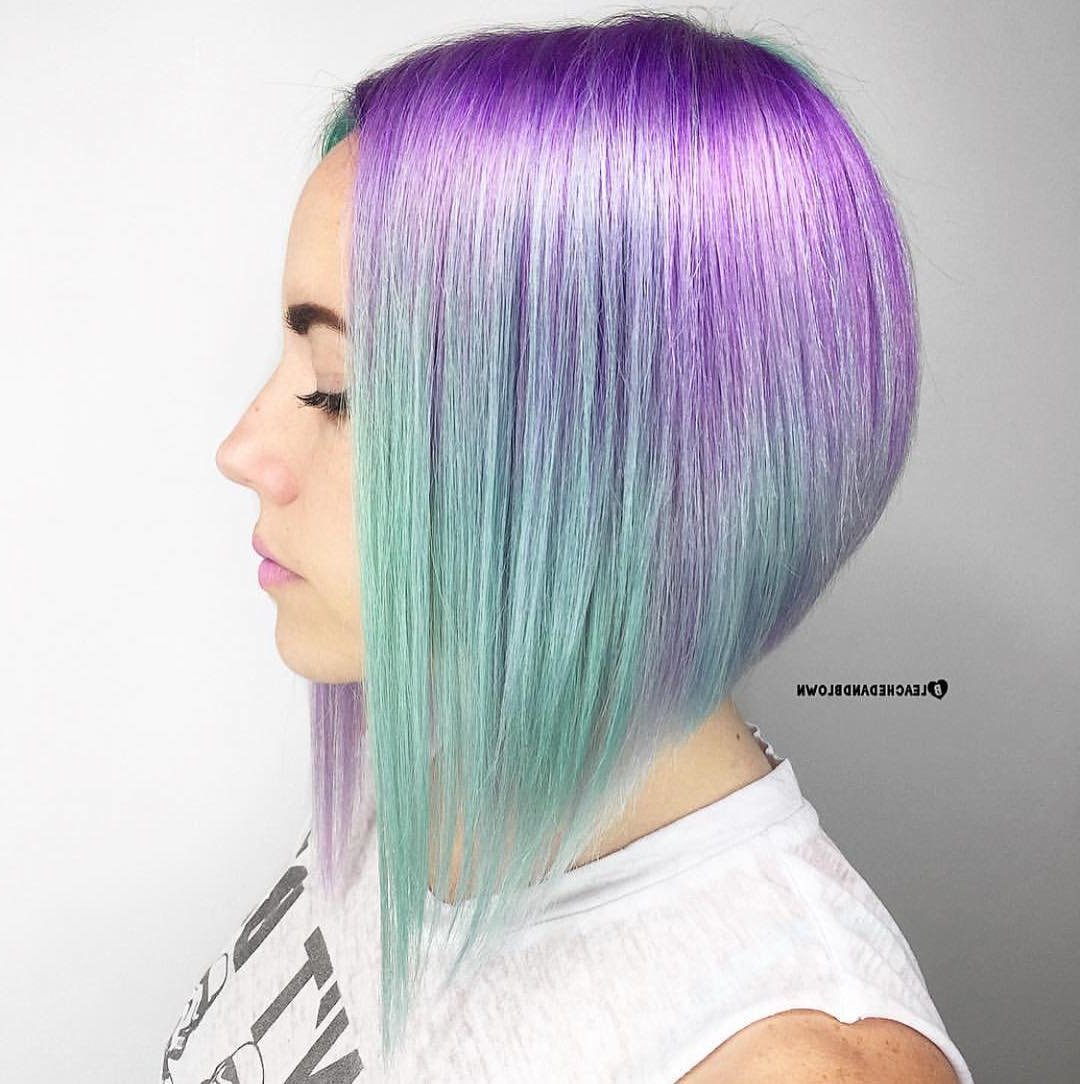 15 Hottest New Trendy Hair Color Ideas For Short Hair – Hairstyles In Lavender Haircuts With Side Part (View 2 of 20)