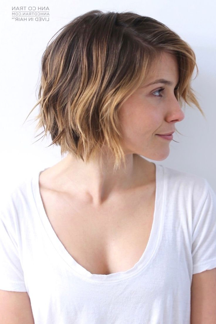 17 Cute Choppy Bob Hairstyles We Love | Styles Weekly Intended For Blue Balayage For Black Choppy Bob Hairstyles (View 15 of 20)