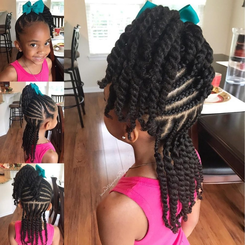 18 Stinkin' Cute Black Kid Hairstyles You Can Do At Home Within 2018 Beach Friendly Braided Ponytails (View 9 of 20)