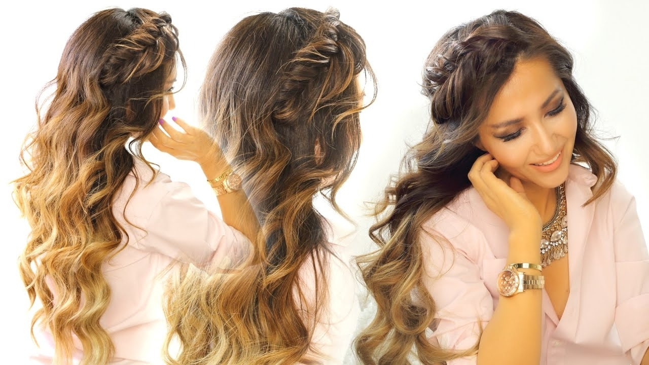 2 Cute Headband Braid Hairstyles ☆ Quick & Easy Hairstyle For Long Intended For Favorite Braided Crown Ponytails For Round Faces (View 6 of 20)