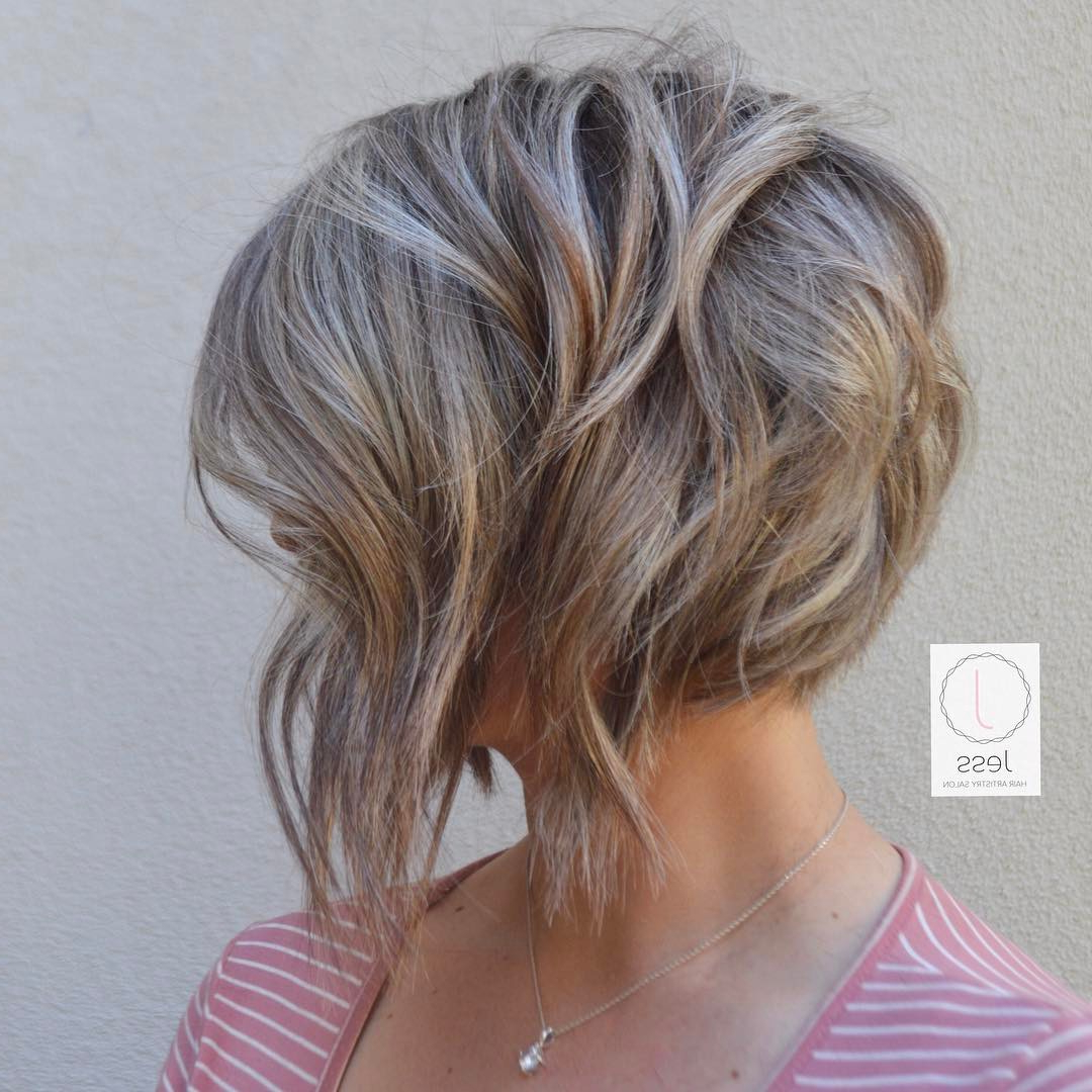 20 Adorable Ash Blonde Hairstyles To Try: Hair Color Ideas 2018 With Short Wavy Blonde Balayage Bob Hairstyles (View 1 of 20)