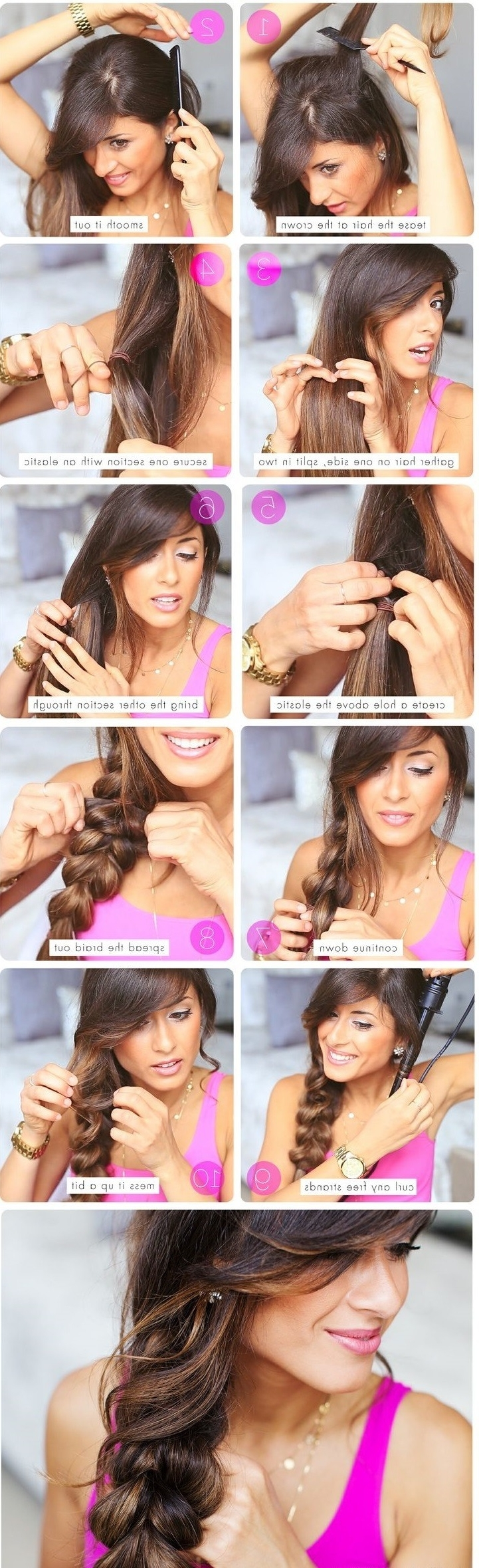 20 Cute And Easy Braided Hairstyle Tutorials Regarding Well Known Simple Messy Side Ponytail Hairstyles (View 12 of 20)
