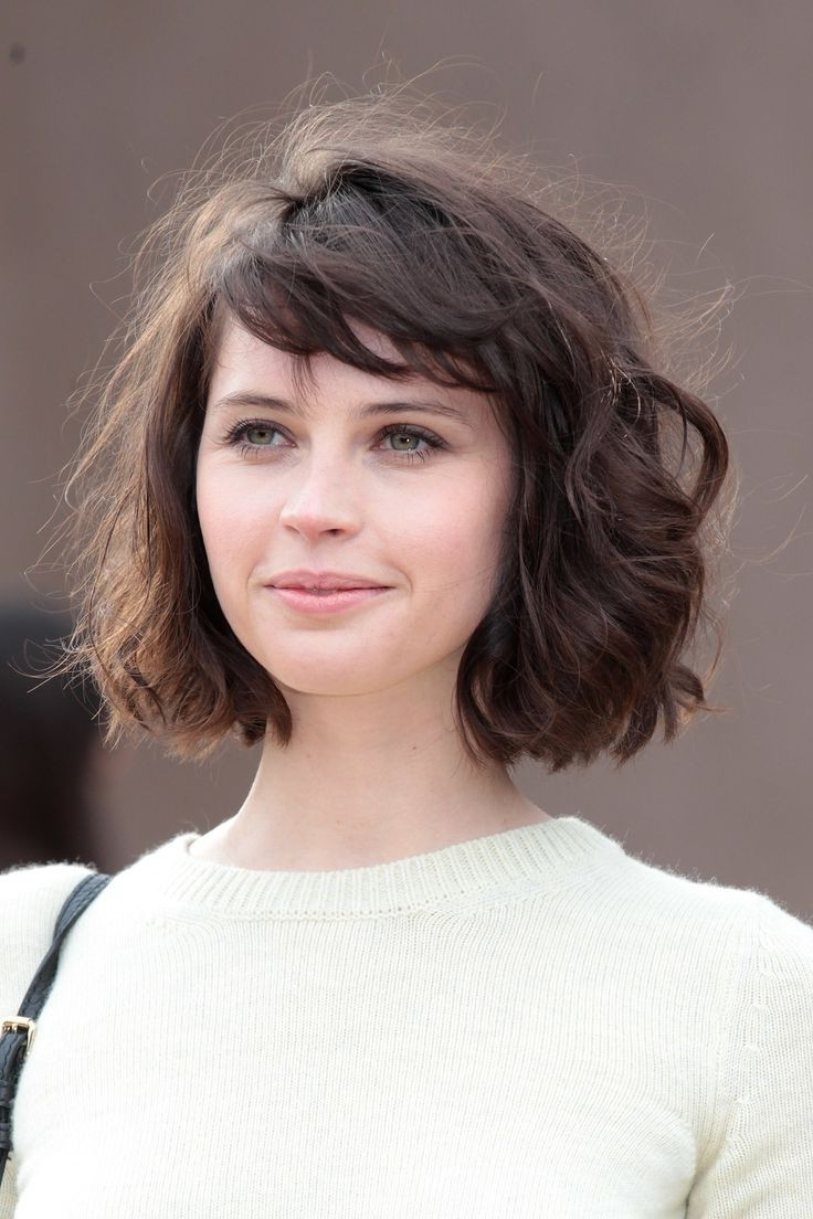 20 Feminine Short Hairstyles For Wavy Hair: Easy Everyday Hair Inside Short Bob For Curly Hairstyles (View 12 of 20)