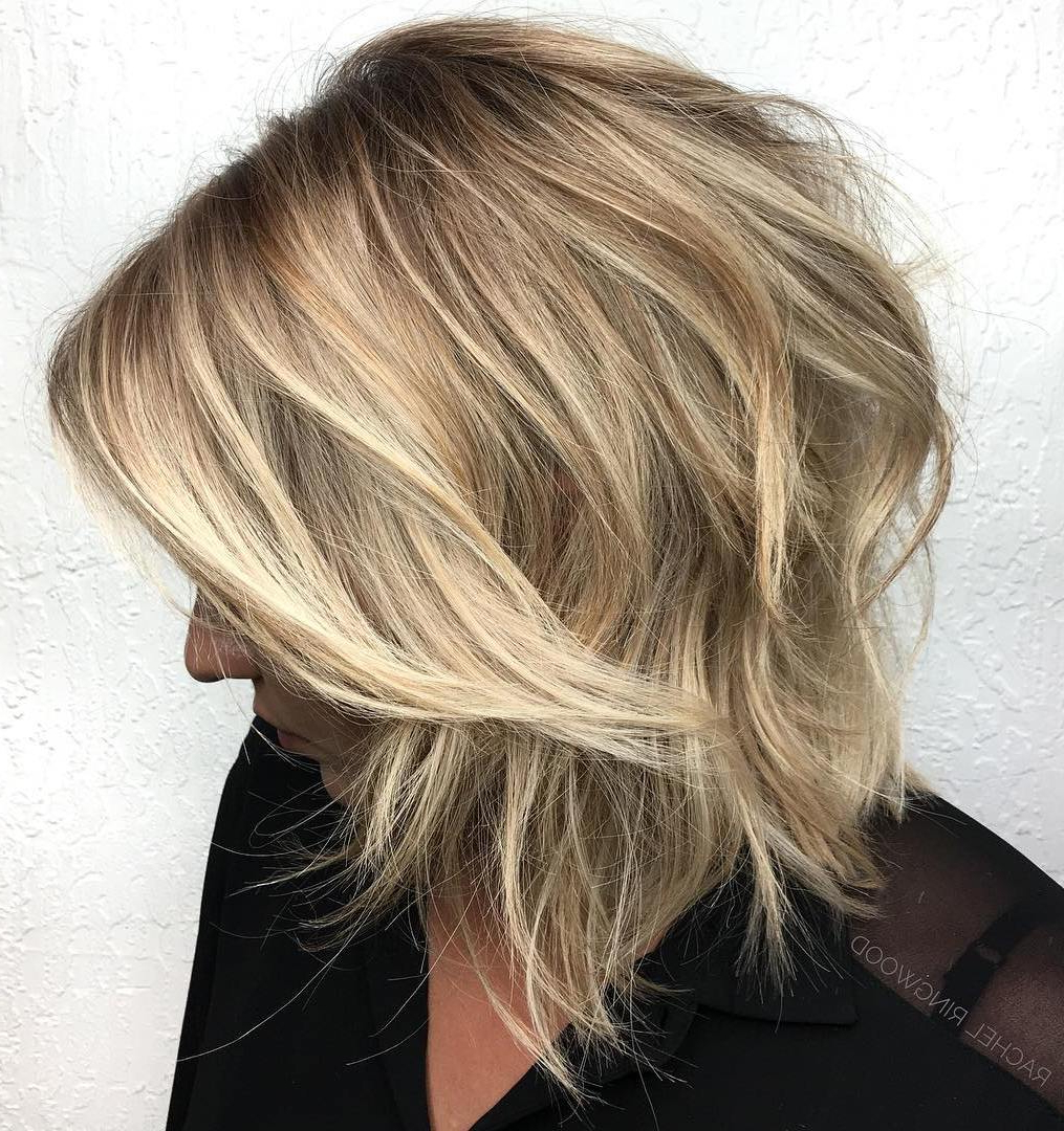 20 Gorgeous Razor Cut Hairstyles For Sharp Ladies With Wavy Bronde Bob Shag Haircuts (View 3 of 20)