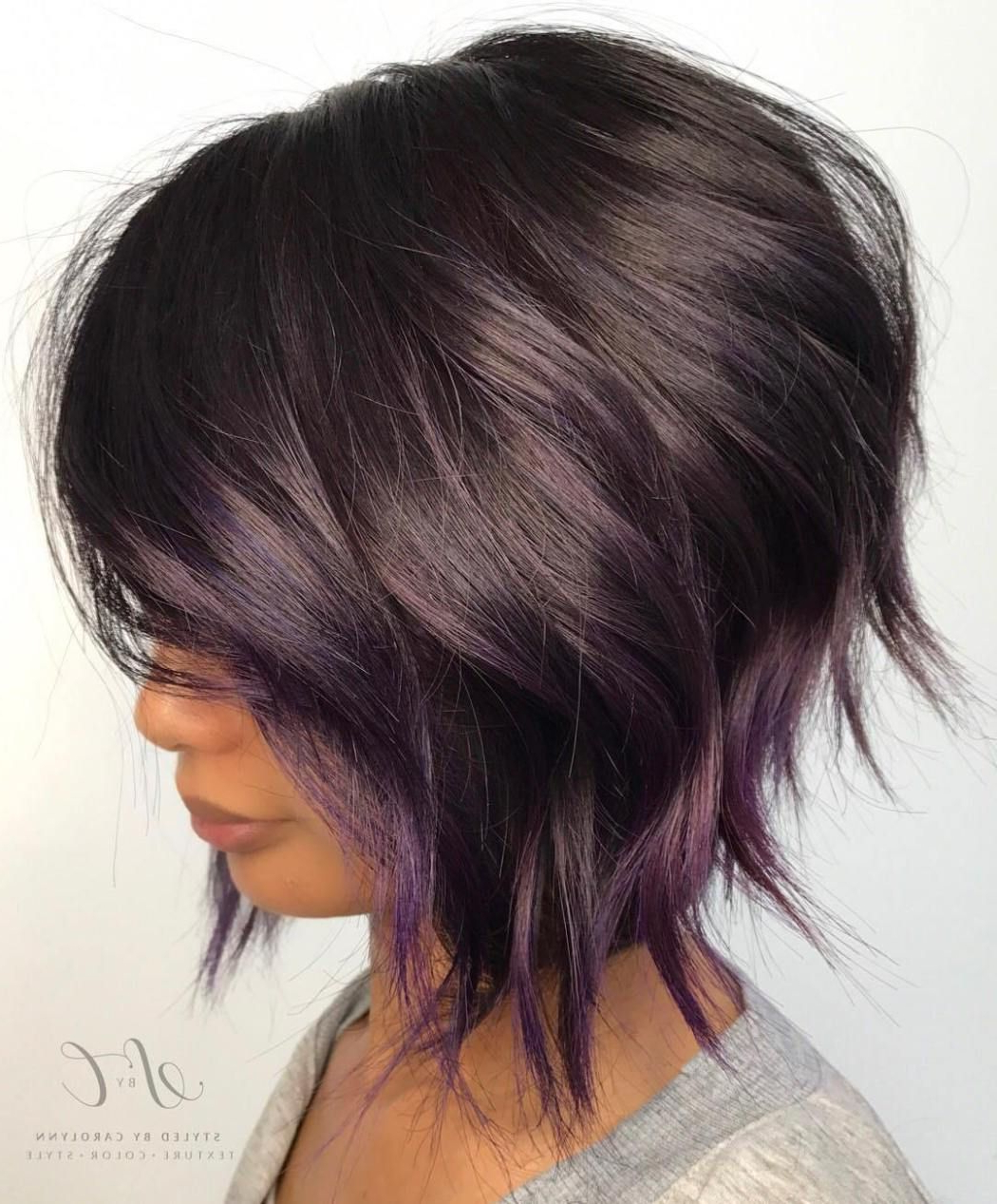 20 Purple Balayage Ideas From Subtle To Vibrant | Hair Intended For Short Stacked Bob Hairstyles With Subtle Balayage (View 3 of 20)