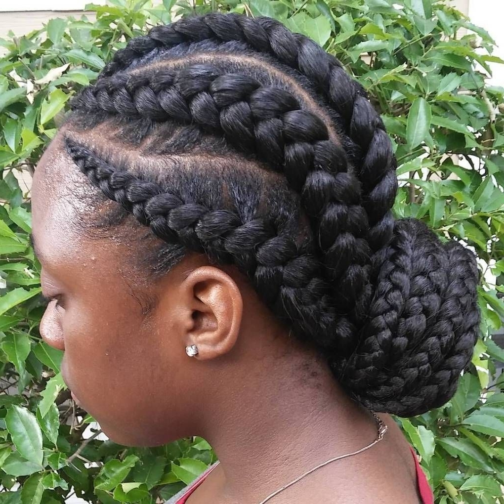20 Totally Gorgeous Ghana Braids For An Intricate Hairdo Throughout Well Known Braided Maze Low Ponytail Hairstyles (View 3 of 20)