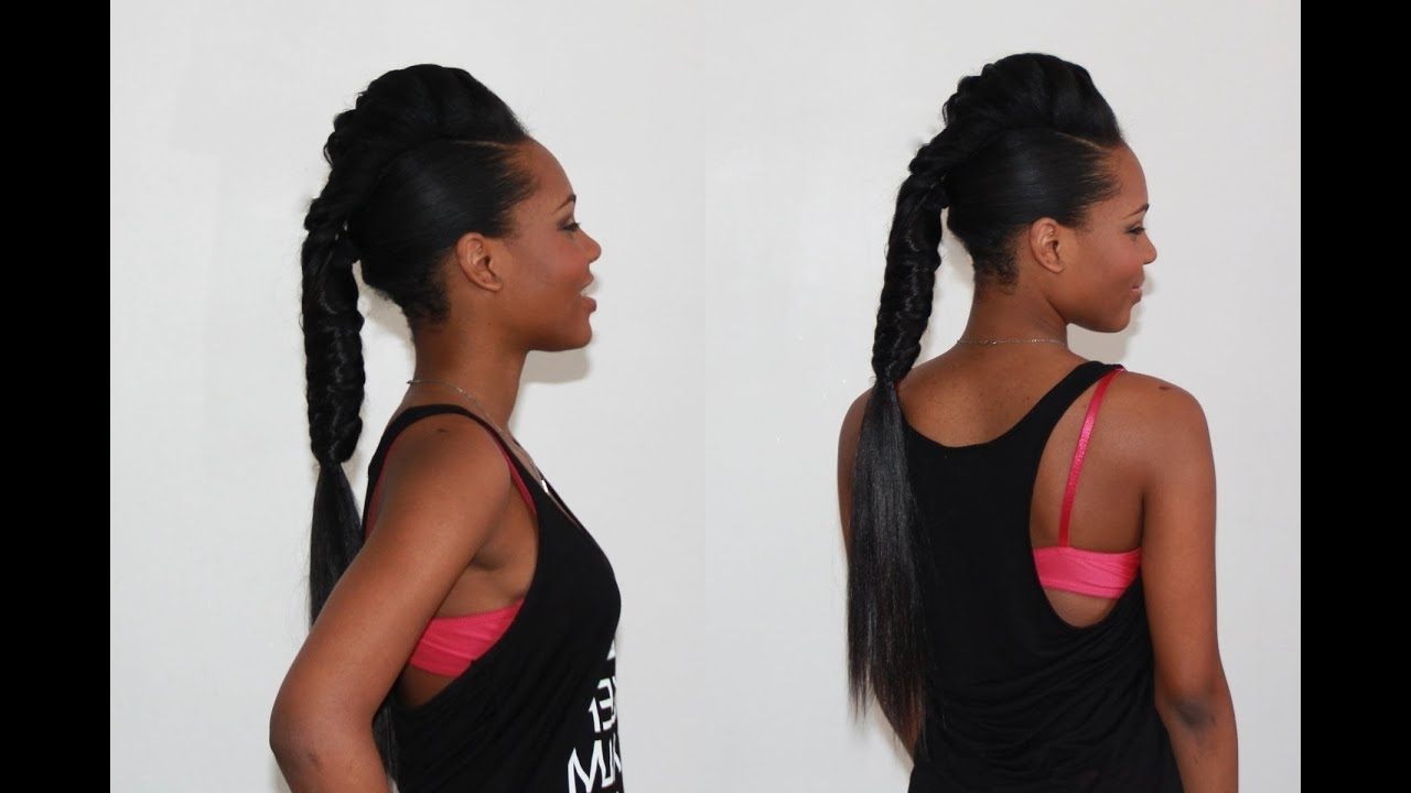 Featured Photo of Fishtail Ponytails With Hair Extensions