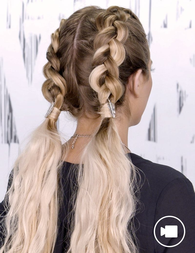 2018 Double French Braid Crown Ponytail Hairstyles With Regard To Braided Hair Style Trends & Braid Inspiration (View 1 of 20)
