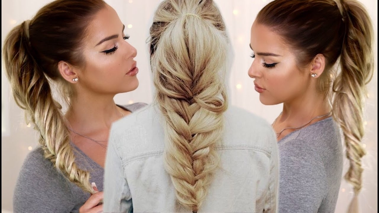 2018 Fishtail Braid Ponytails Regarding Loose Fishtail Ponytail – Youtube (View 2 of 20)