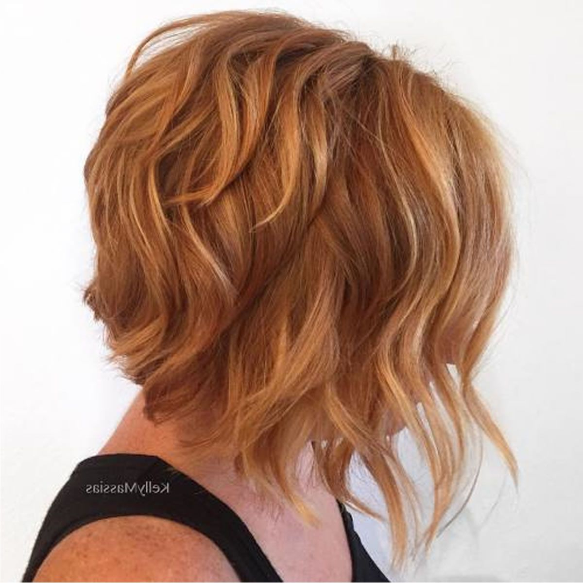 2018 Haircuts For Older Women Over 50 – New Trend Hair Ideas In Burgundy And Tangerine Piecey Bob Hairstyles (View 13 of 20)