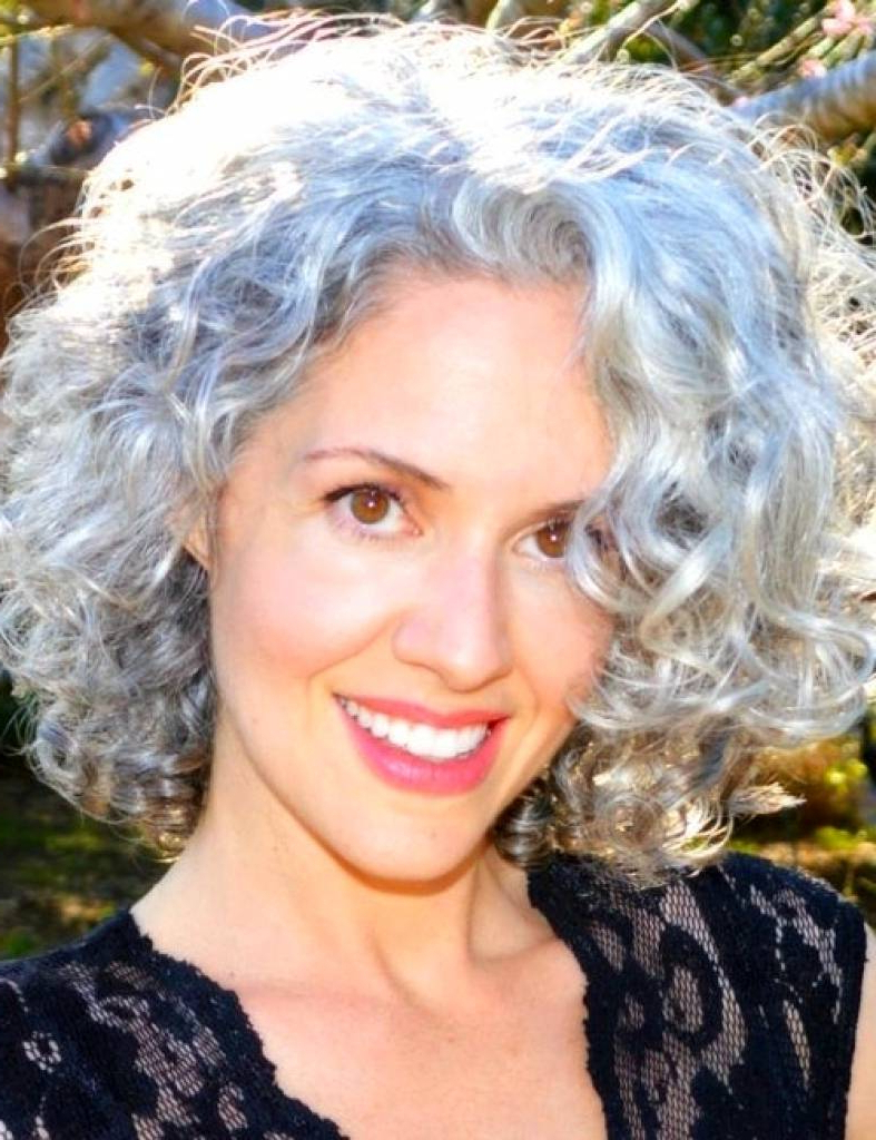 2018 Hairstyles For Short Curly Gray Hair – Curlyhairstyle (View 1 of 20)