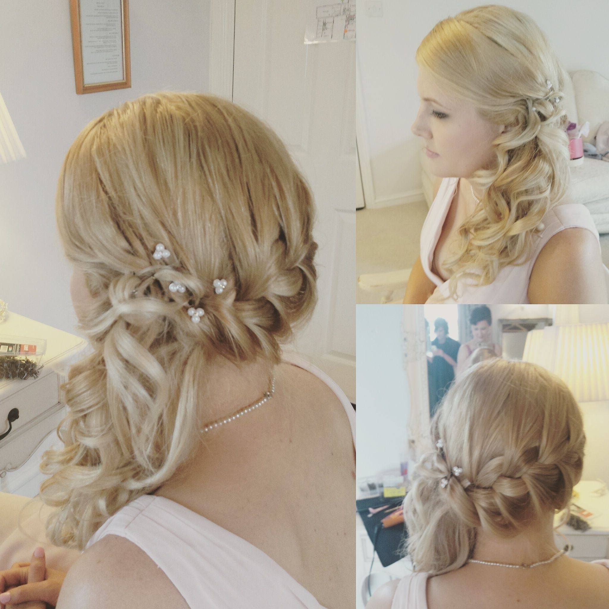 2018 Loosey Goosey Ponytail Hairstyles Within Plaits And Curls Bridal Hair Look. Norwich (View 1 of 20)