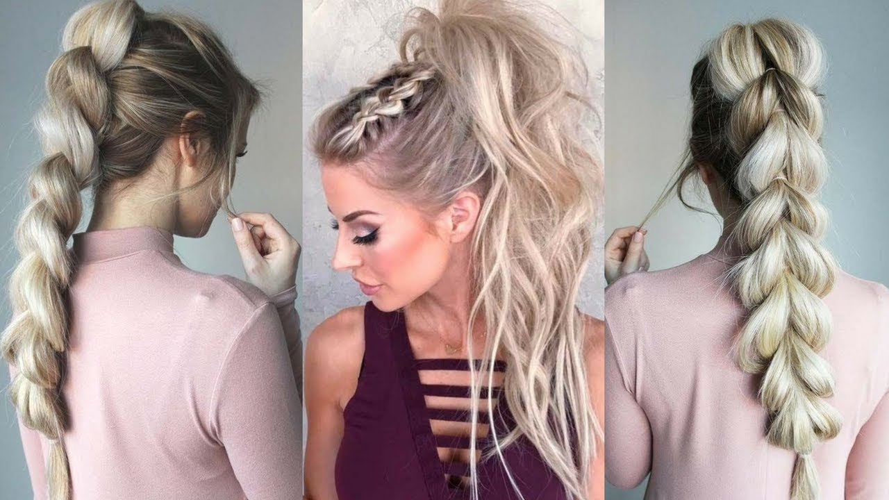 Featured Photo of Braided Glam Ponytail Hairstyles