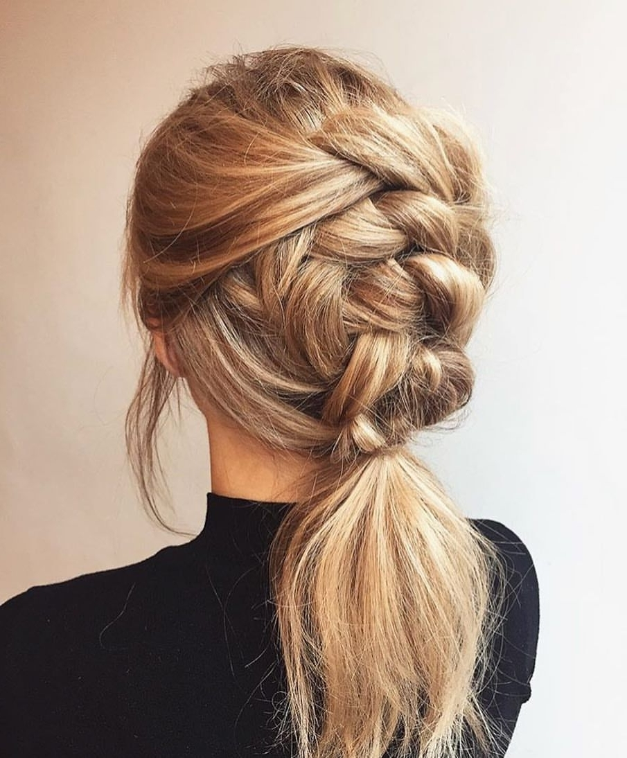2018 Tangled And Twisted Ponytail Hairstyles Throughout Today's Hair Inspiration Braided Ponytails (View 3 of 20)