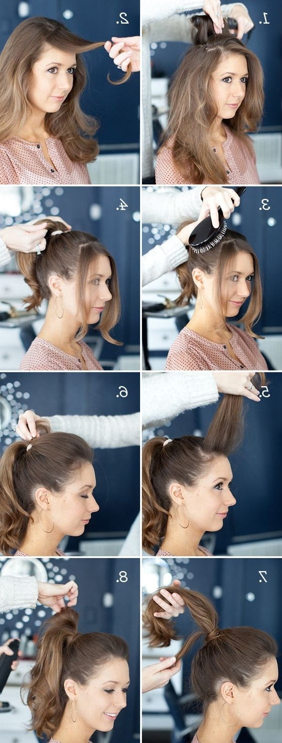 22 Cute Ponytails For Long & Medium Length Hair – Straight, Messy Inside Preferred Sculptural Punky Ponytail Hairstyles (View 1 of 20)