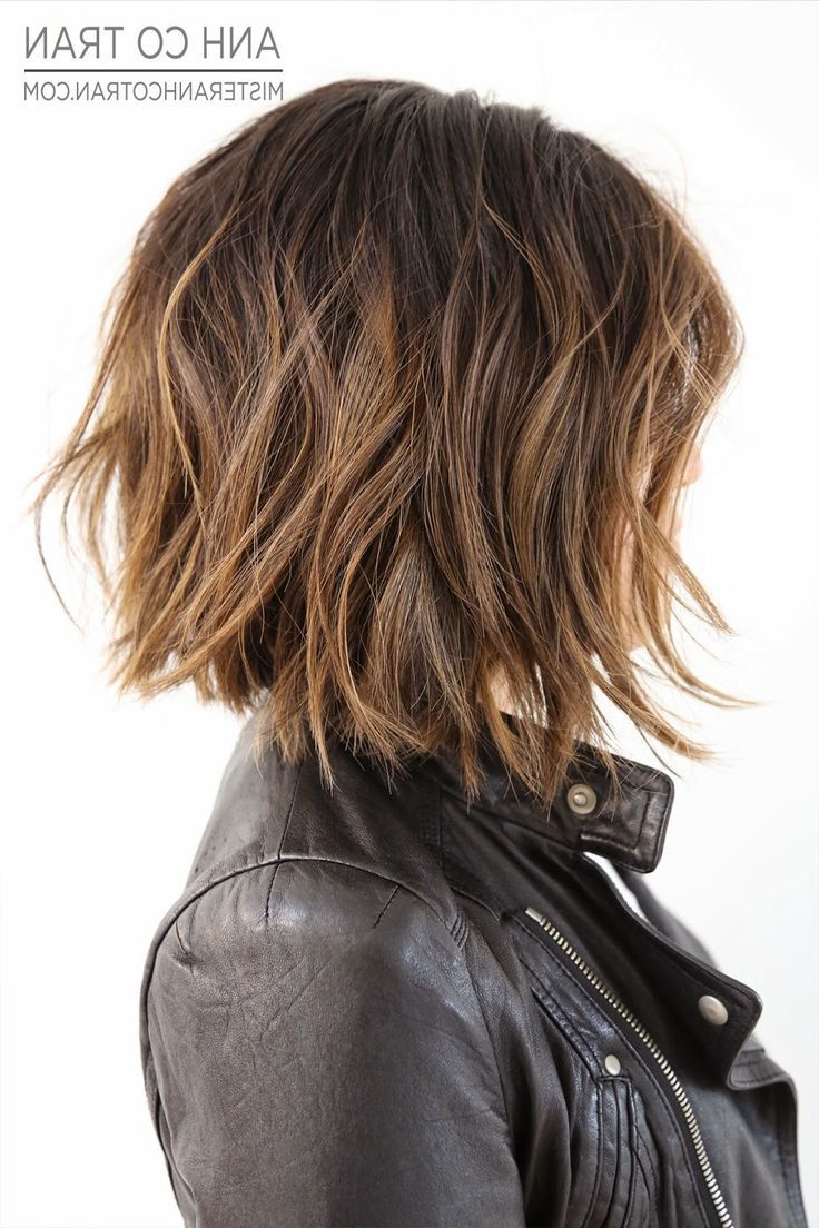 Featured Photo of Sexy Tousled Wavy Bob For Brunettes