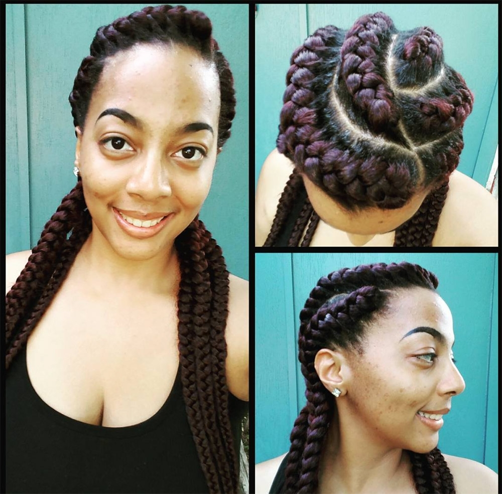 22 Next Level Goddess Braids To Inspire Your Look – Thefashionspot With Popular Braided Maze Low Ponytail Hairstyles (View 6 of 20)