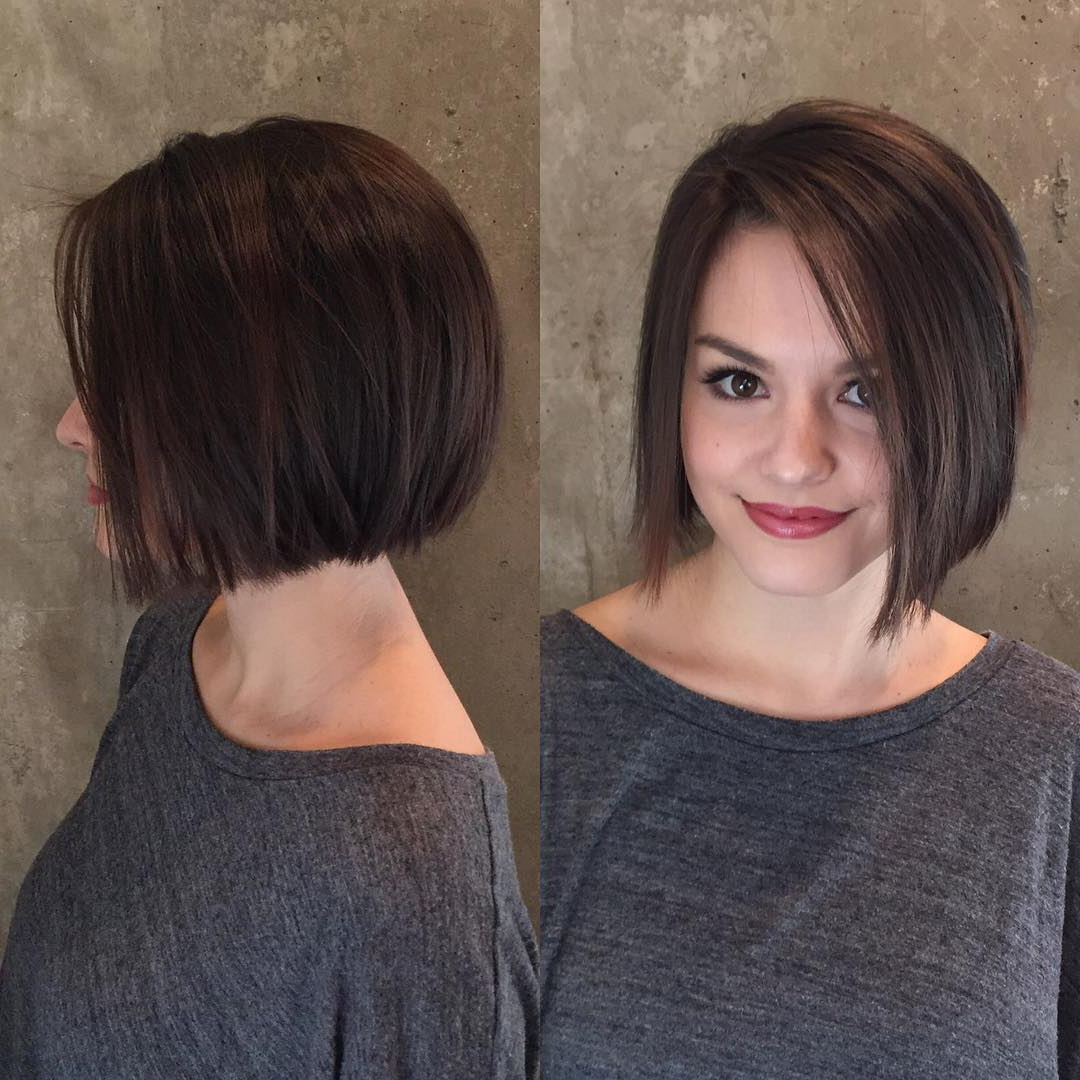 22 Stick Straight Bob Haircuts With Style 2018 | Hairstyle Guru Pertaining To Modern Chocolate Bob Haircuts (View 4 of 20)