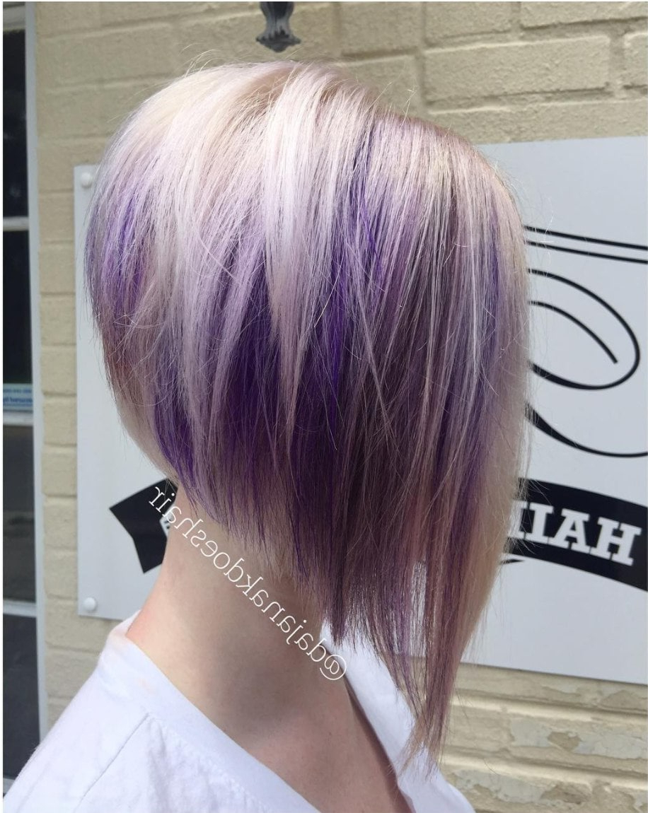 23 Of The Most Stunning Purple Hair Color Ideas Inside Choppy Brown And Lavender Bob Hairstyles (View 18 of 20)