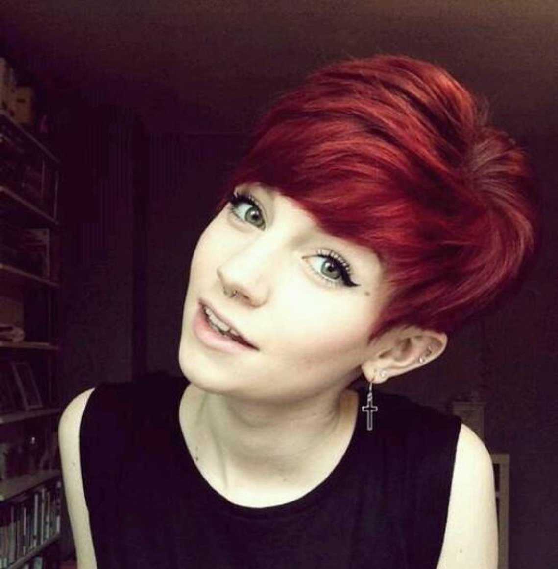 24 Really Cute Short Red Hairstyles   Styles Weekly Inside Disheveled Blonde Pixie Haircuts With Elongated Bangs (Gallery 11 of 20)