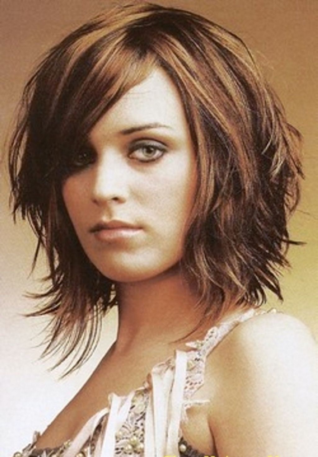 24 Unique Bob Hairstyles For Thick Hair: Length Layered Bob Medium Intended For Bob Hairstyles For Thick Hair (View 2 of 20)
