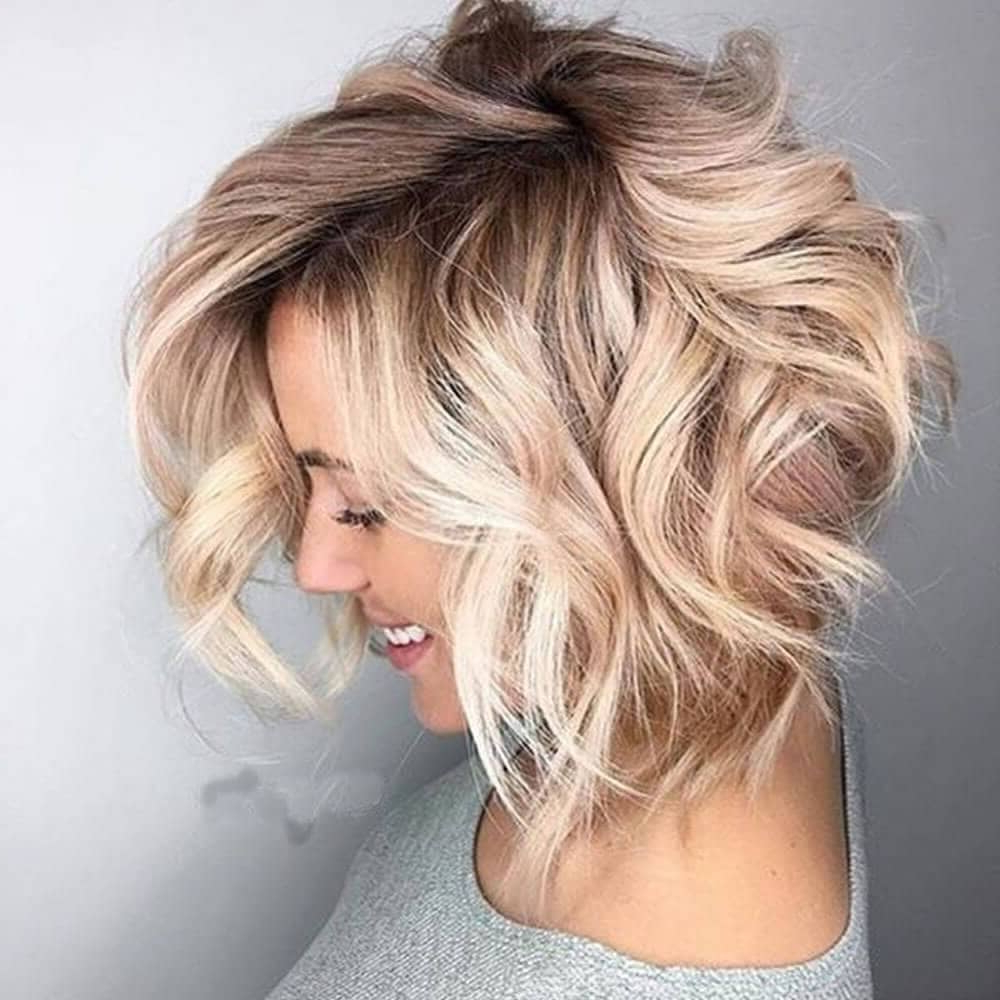 25 Blonde Balayage Short Hair Looks You'll Love Throughout Angelic Blonde Balayage Bob Hairstyles With Curls (View 17 of 20)