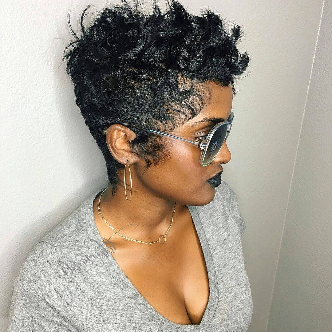 27 Hot Pixie Cuts To Copy In 2018 | Hairstyle Guru In Long Messy Curly Pixie Haircuts (View 18 of 20)
