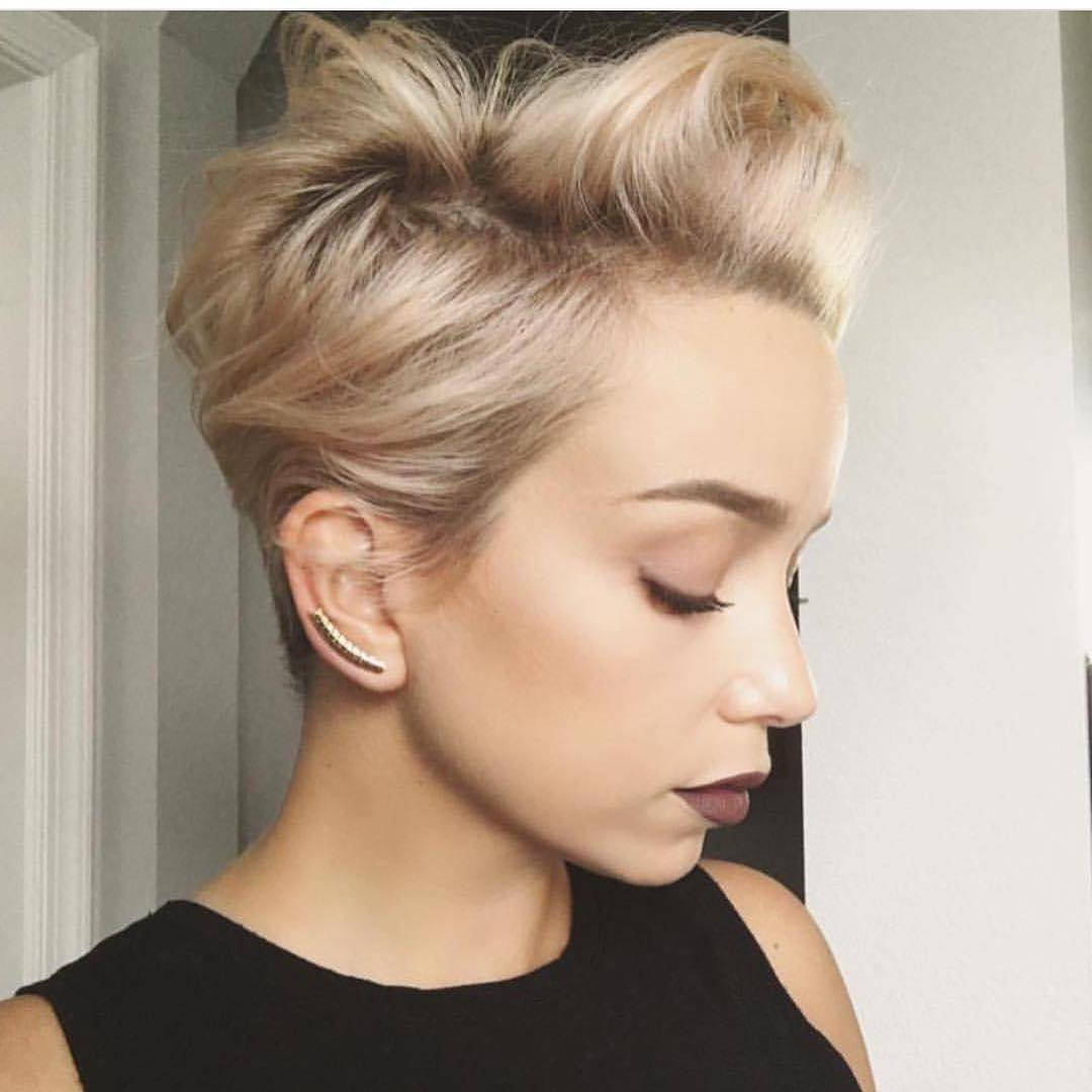 27 Hot Pixie Cuts To Copy In 2018 | Hairstyle Guru With Regard To Long Messy Ash Blonde Pixie Haircuts (View 7 of 20)