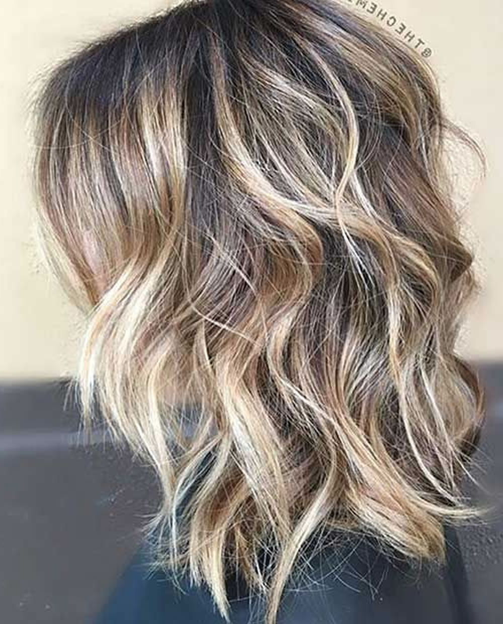 28 Layered Long Bob Hairstyles And Lob Haircuts 2018 – Page 6 Regarding Layered Balayage Bob Hairstyles (View 5 of 20)