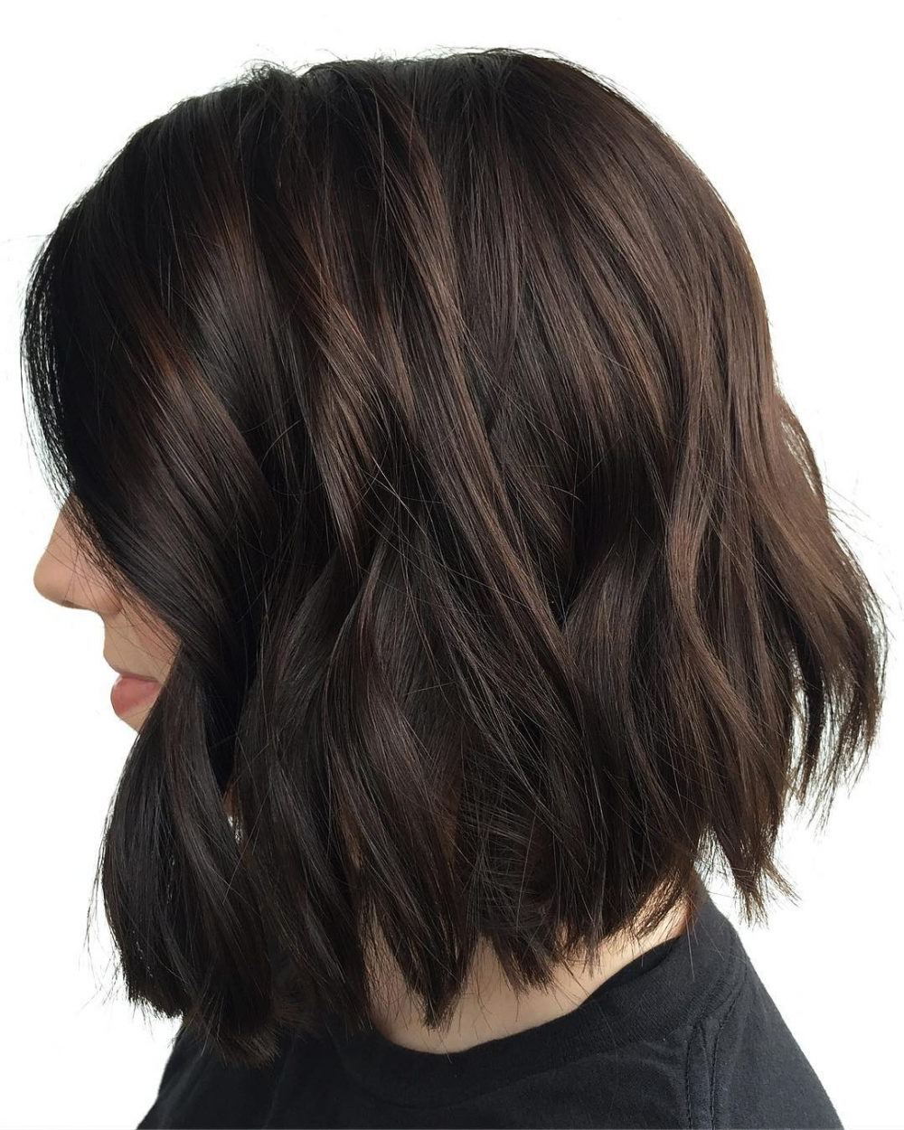 29 Flattering Dark Hair Colors For Every Skin Tone In 2018 Intended For Disheveled Burgundy Brown Bob Hairstyles (View 4 of 20)