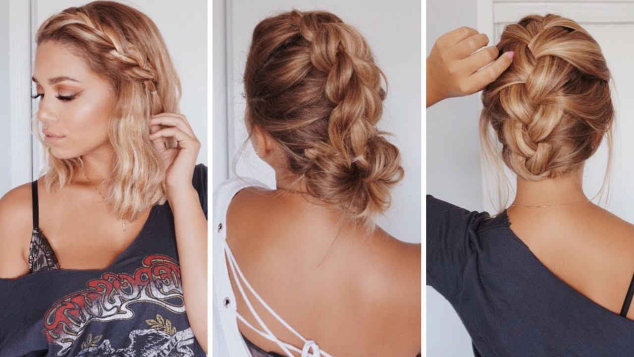 3 Easy Hairstyles For Short/medium Length Hair | Ashley Bloomfield Inside Short And Simple Hairstyles (View 3 of 20)