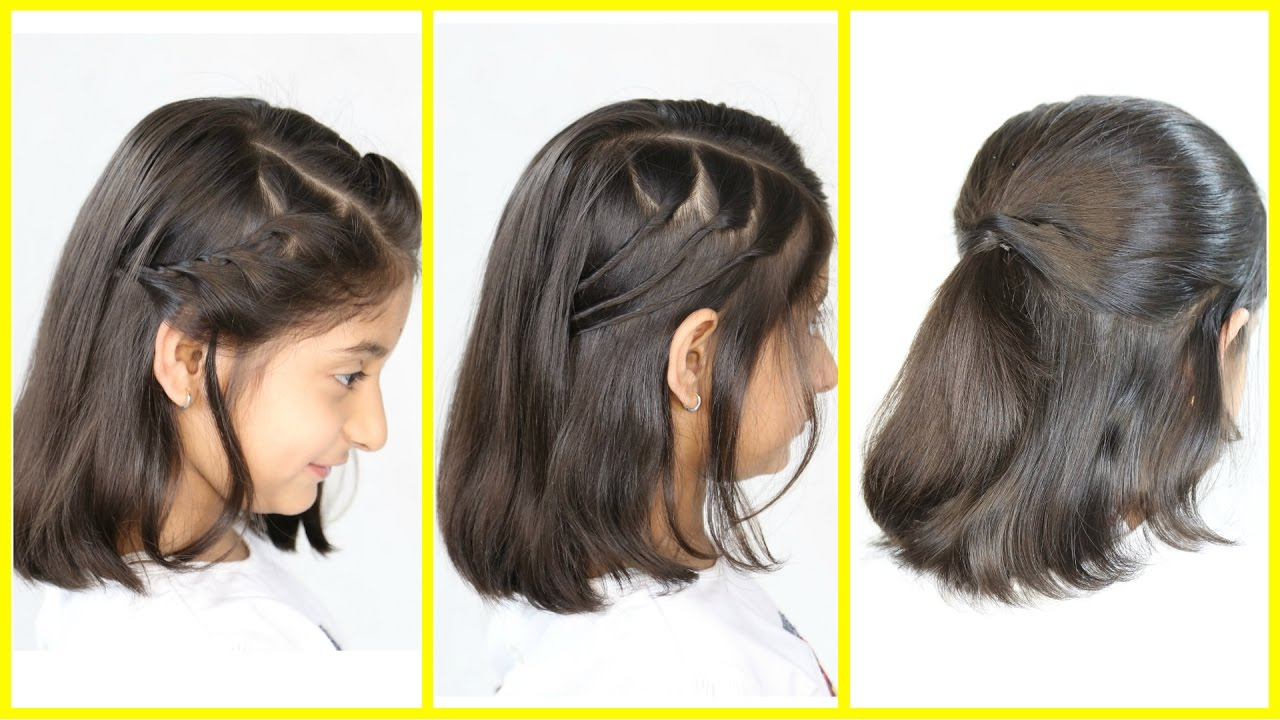 3 Simple & Cute Hairstyles (New) For Short/medium Hair | Mymissanand Pertaining To Short And Simple Hairstyles (View 5 of 20)