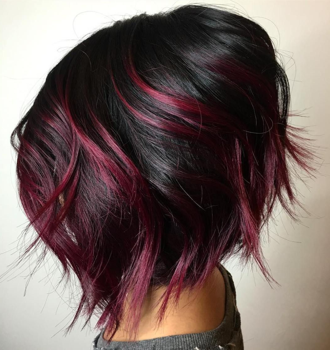 Featured Photo of Stacked Black Bobhairstyles  With Cherry Balayage