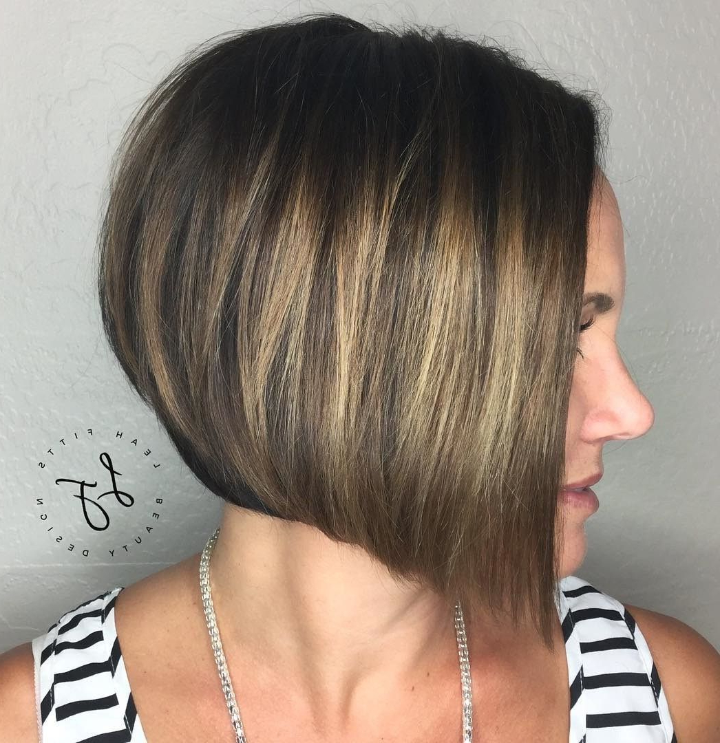 30 Beautiful And Classy Graduated Bob Haircuts | Subtle Balayage Within Short Stacked Bob Hairstyles With Subtle Balayage (View 6 of 20)