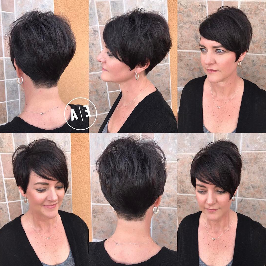 30 Cute Pixie Cuts: Short Hairstyles For Oval Faces – Popular Haircuts For Messy Asymmetrical Pixie Bob Haircuts (View 5 of 20)