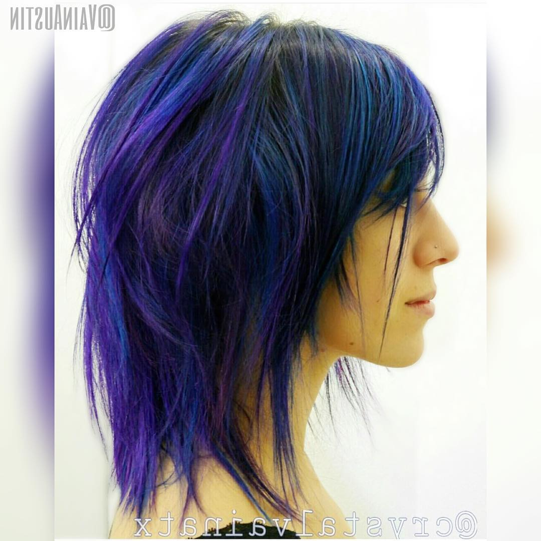 30 Edgy Medium Length Haircuts For Thick Hair [october, 2018] With Blue Balayage For Black Choppy Bob Hairstyles (View 11 of 20)