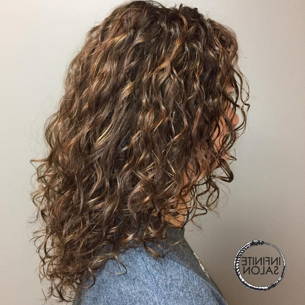 30 Gorgeous Medium Length Curly Hairstyles For Women In 2018 For Scrunched Curly Brunette Bob Hairstyles (View 2 of 20)