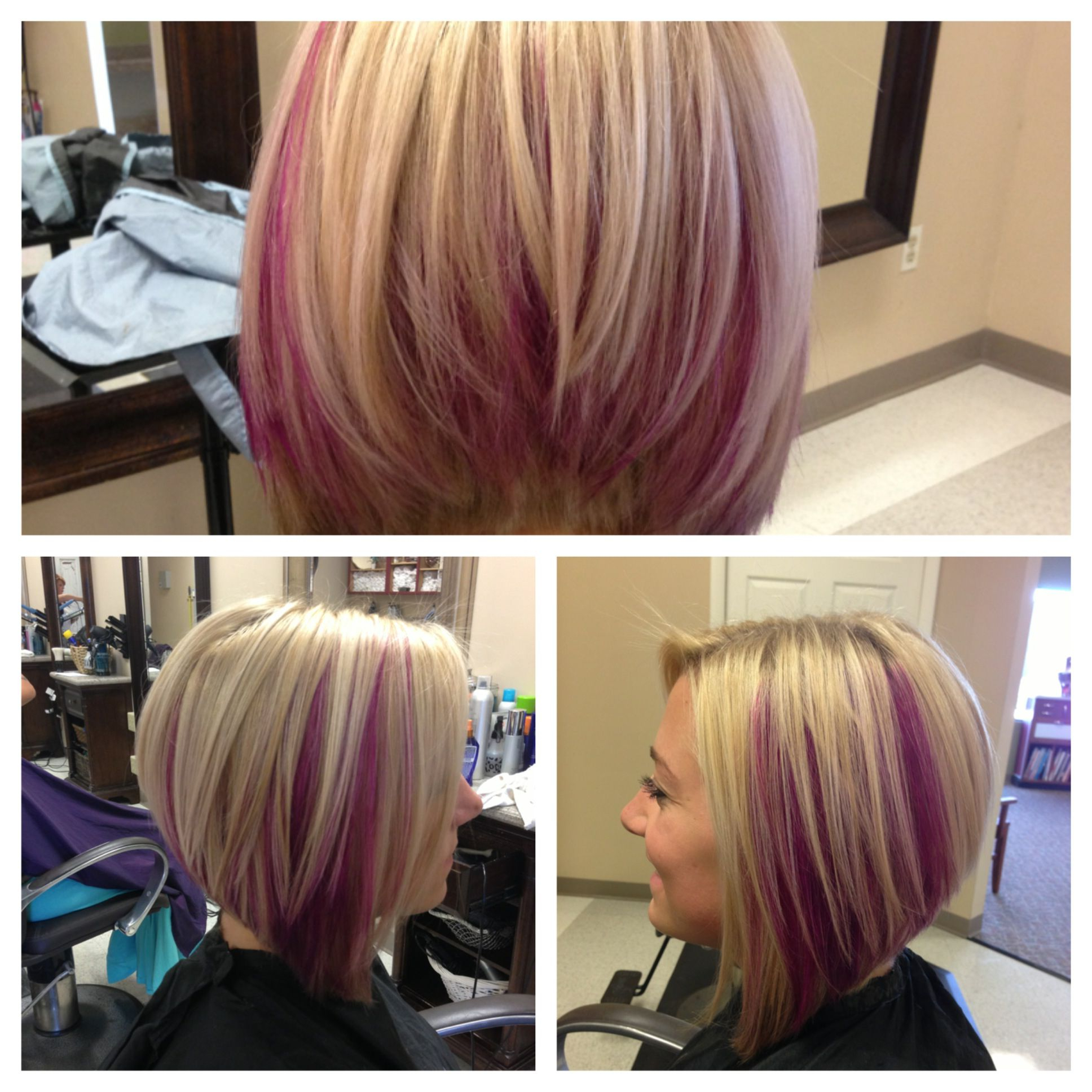 30 Must Try Medium Bob Hairstyles | Beautyyy | Pinterest | Hair With Extreme Angled Bob Haircuts With Pink Peek A Boos (View 4 of 20)