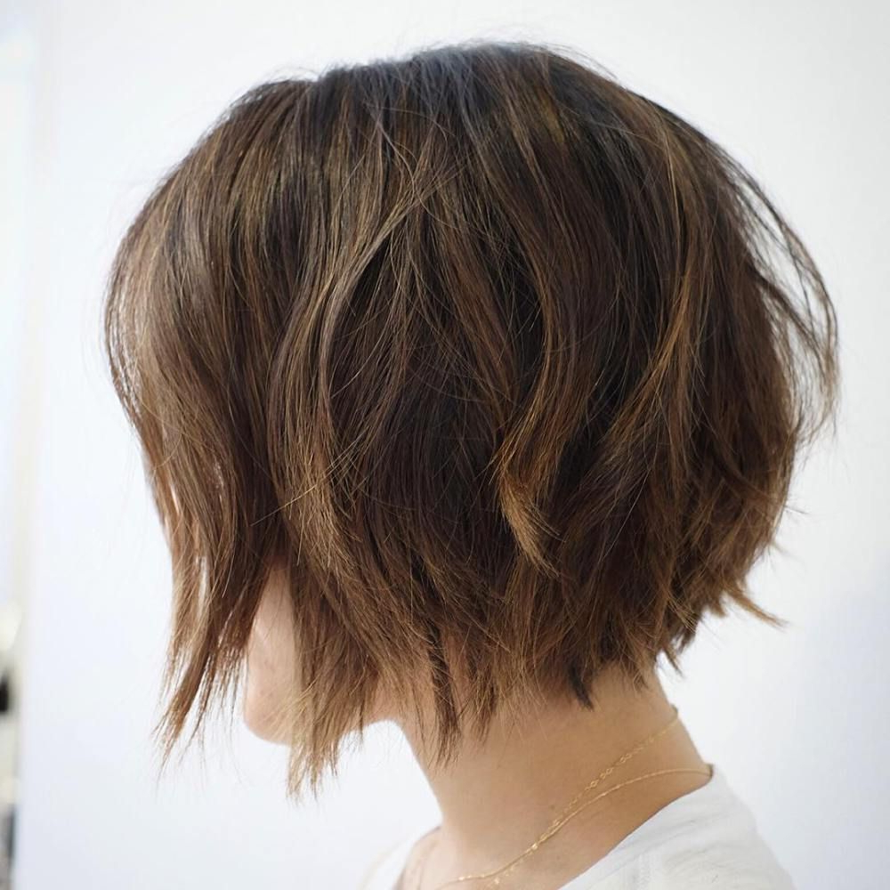 30 Trendiest Shaggy Bob Haircuts Of The Season In 2018 | Hair Intended For Loosely Waved Messy Brunette Bob Hairstyles (View 3 of 20)