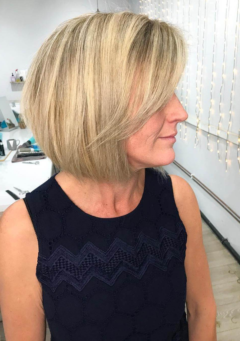 30 Trending Fresh Blonde Bob Hairstyles Regarding Butter Blonde A Line Bob Hairstyles (View 4 of 20)
