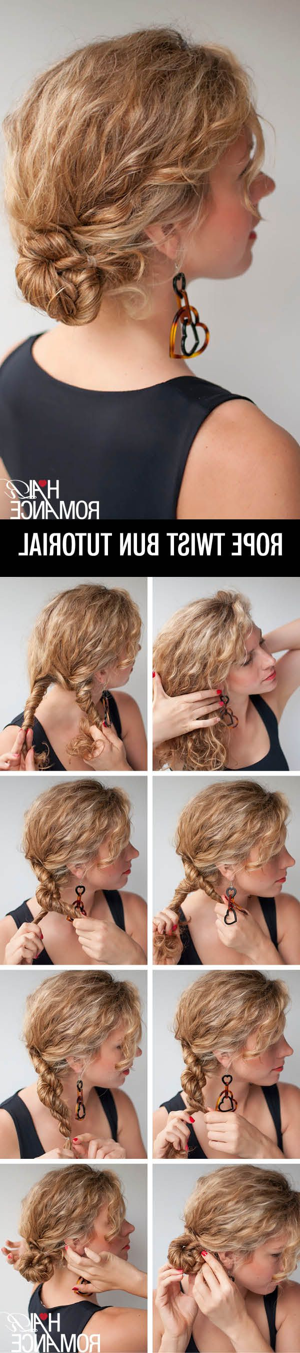 32 Easy Hairstyles For Curly Hair (for Short, Long & Shoulder Length Regarding Short Messy Hairstyles With Twists (View 18 of 20)